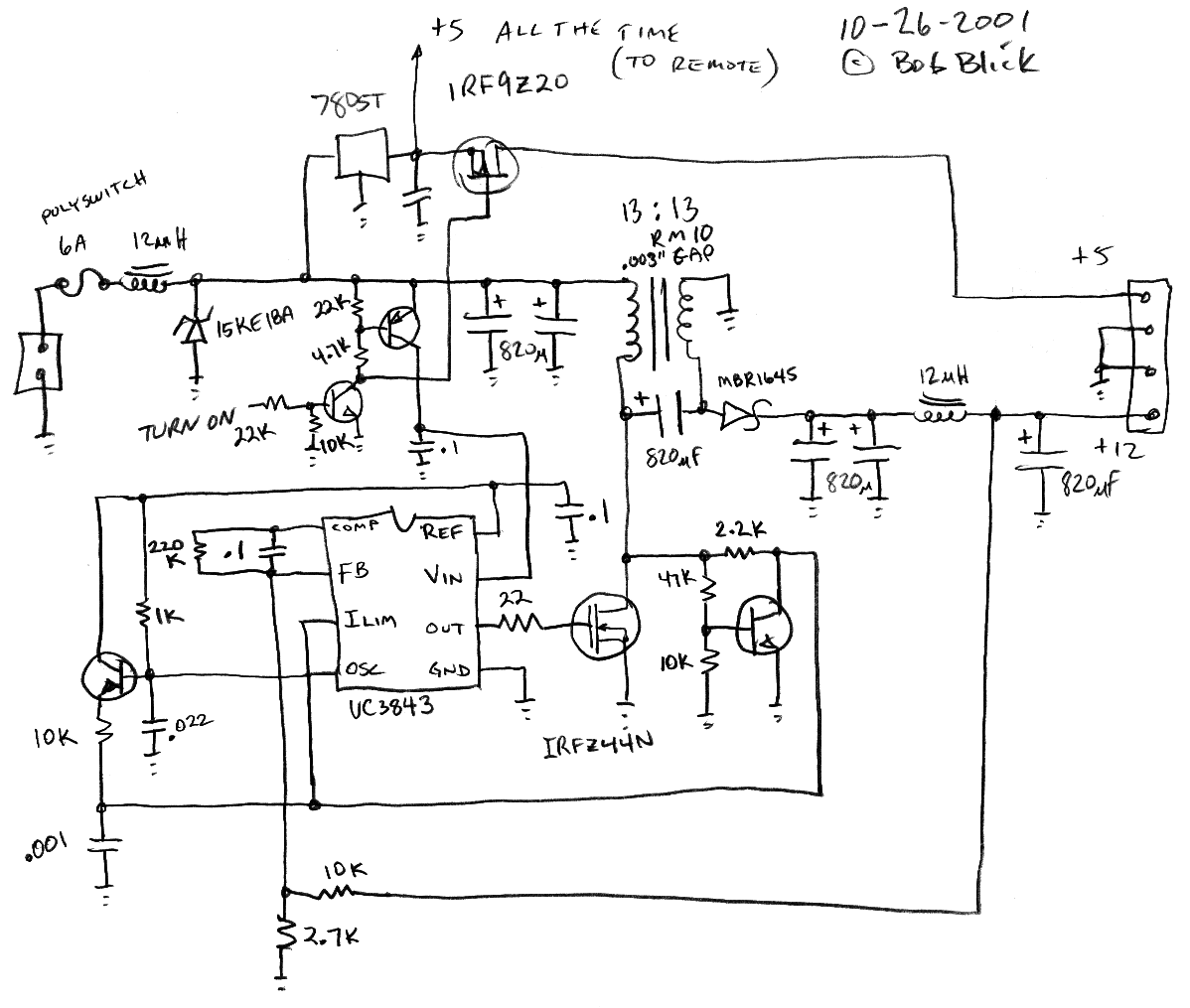 Car Psu Volt Power Supply Schematic The Blick Dc Converter Follow Link For High Res
