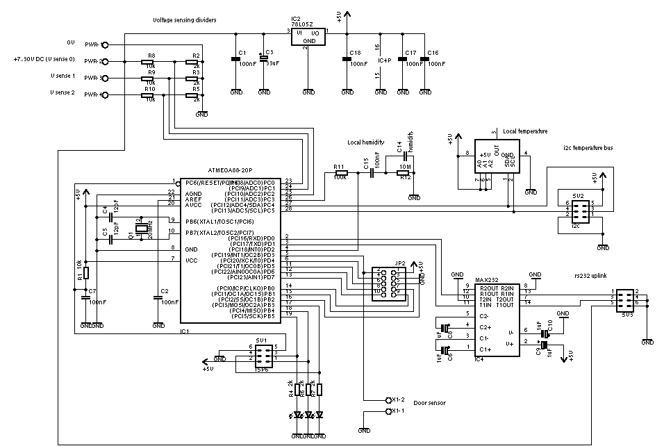 Schematic of the sensor controller
